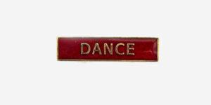 DANCE ENAMEL BADGE-RED/ METAL PIN BADGE