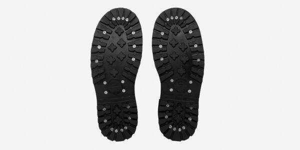Underground England Original Tracker steel toe cap black leather and zebra flock shoe for men and women