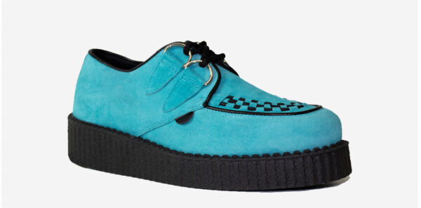 UNDERGROUND ORIGINAL WULFRUN CREEPER – TURQUOISE SUEDE – SHOES FOR MEN AND WOMEN