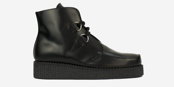 UNDERGROUND ORIGINAL WULFRUN CREEPER BOOT – BLACK LEATHER – SHOES FOR MEN AND WOMEN