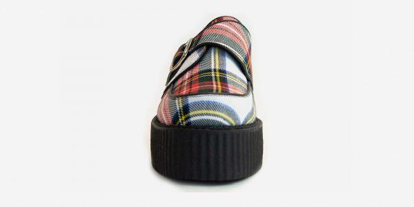 Underground Original King Tut Creeper white stewart tartan buckle shoe for men and women