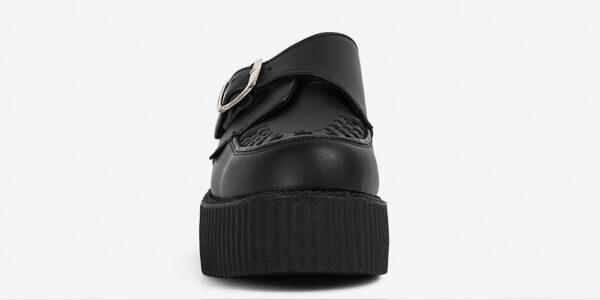 Underground Original King Tut Creeper black vegan friendly leather buckle shoe for men and women