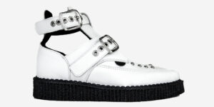 Underground Original Bowie white grain leather with chains boot for men and women