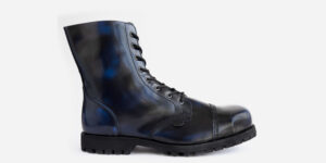 Underground Original Steel Cap Stormer Navy Rub-off leather combat boot for men and women