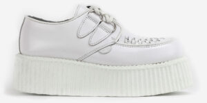 Underground Original Wulfrun Creeper white leather shoe with white sole for men and women