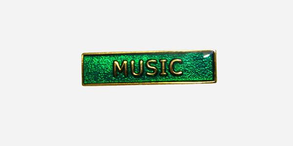 Underground England green and gold music enamel metal pin badge