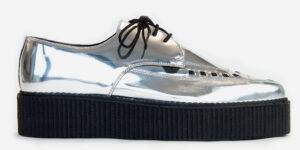 Underground Original barfly Creeper metallic silver leather for men and women