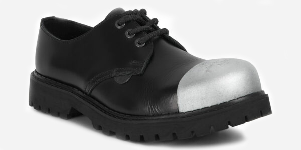 Underground England Tracker black leather external steel toe cap leather shoe for men and women