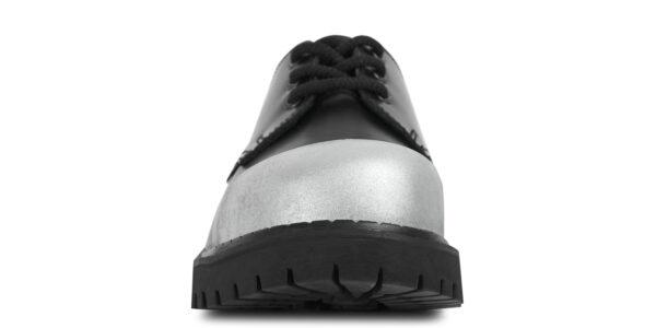TRACKER 3 EYELET EXTERNAL STEEL CAP SHOE – BLACK LEATHER – SINGLE SOLE