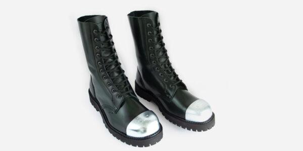 Underground Original External Steel Cap Commando Green rub-off leather combat boot for men and women