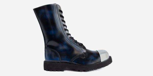 Navy external steel cap boot