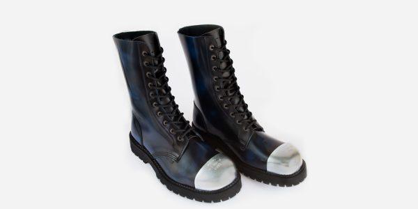 Underground Original External Steel Cap Commando Navy rub-off leather combat boot for men and women