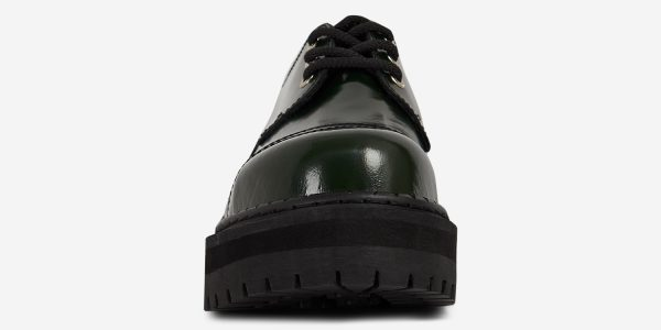 Underground England Original Tracker steel toe cap green rub-off leather shoe for men and women