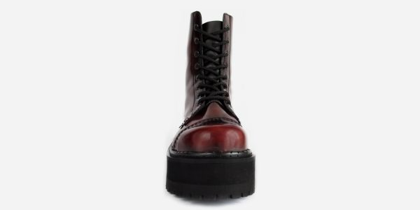 burgundy steel cap boot