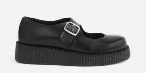 UNDERGROUND ORIGINAL CREEPER – MARY JANE – BLACK LEATHER – SHOES FOR MEN AND WOMEN