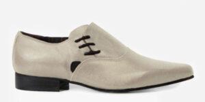 Underground England Henry Winklepicker beige suede side lace up shoe for men and women
