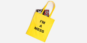 UNDERGROUND ENGLAND YELLOW TOTE I'M A MESS FOR MEN AND WOMEN