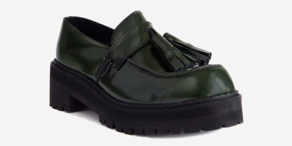 UNDERGROUND LEX – ORIGINAL CHUNKY TASSLE LOAFER – GREEN RUB-OFF LEATHER SHOES FOR MEN AND WOMEN