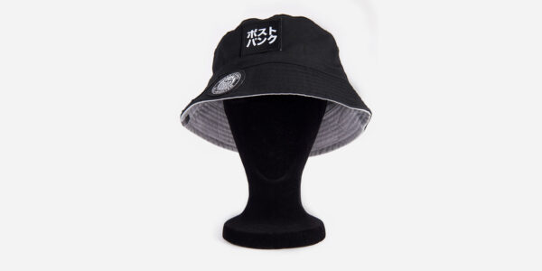 UNDERGROUND UPROAR BLACK BUCKET HAT – 8 WOVEN PATCHES FOR MEN AND WOMEN