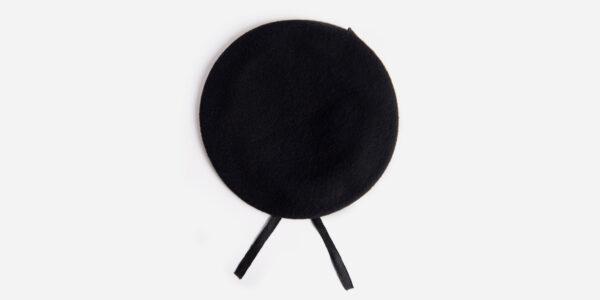 black woollen beret