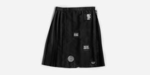 UNDERGROUND WYND PLEATED MIDI SKIRT – MCR 81 WITH PATCHES