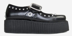 Original Underground Mary Jane Black Leather with studs Shoe for Men and Women