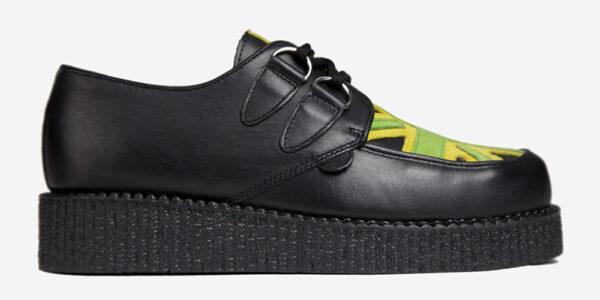 Underground Original Wulfrun Creeper black leather and Union Jamaica shoe for men and women