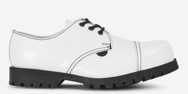 Underground England Tracker steel toe cap white leather shoe for men and women
