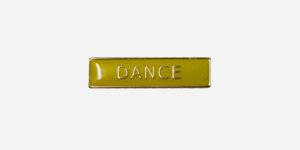 DANCE ENAMEL BADGE YELLOW