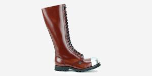 Underground Original external Steel Cap Gripper cherry leather knee length combat boot for men and women