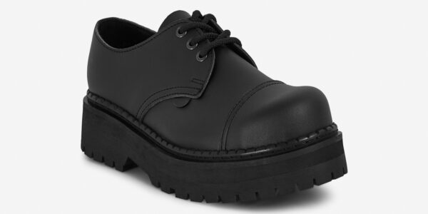 Underground England Original Tracker steel toe cap black vegan friendly leather shoe for men and women
