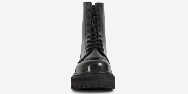 Underground Original Steel Cap Stormer green rub-off leather combat boot for men and women