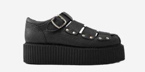 pinatex black sandal