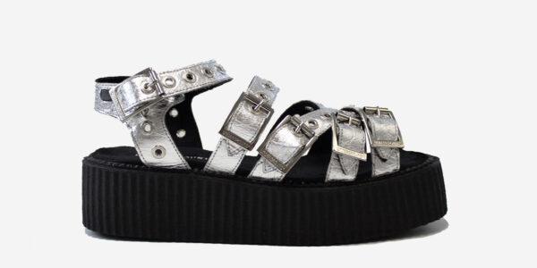 silver pinatex sandal