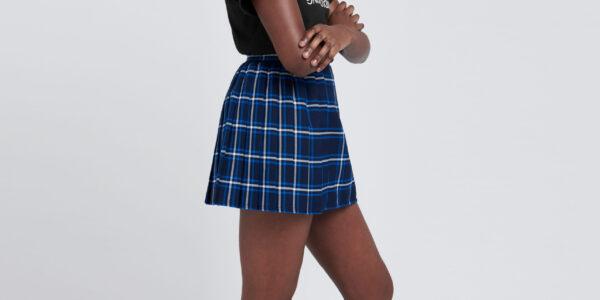 Underground England Authentic Claremont tartan pleated mini skirt for men and women
