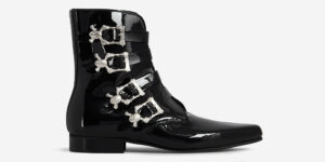 UM-069 PATENT LEATHER_SKULL BLACK_SILVER Side