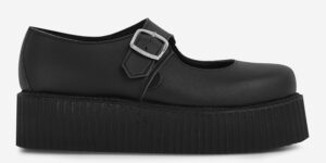 Original Underground Mary Jane Black vegan friendly Leather with shoe for Men and Women