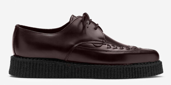 Underground Original Barfly Creeper oxblood leather shoe for men and women