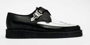 Underground Original Apollo strand creeper black and white leather shoe for both men and women