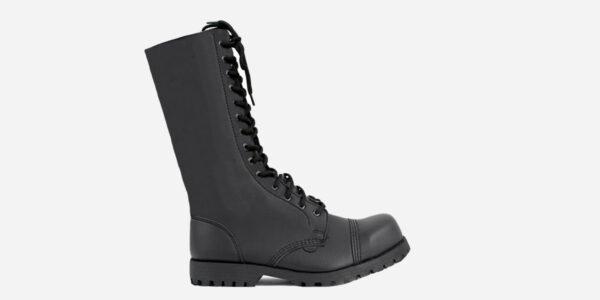 Underground Original Steel Cap Ranger black vegan friendly leather combat boot for men and women
