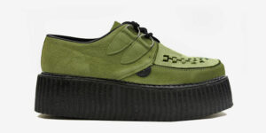 Underground Original Wulfrun Creeper apple green suede shoe for men and women
