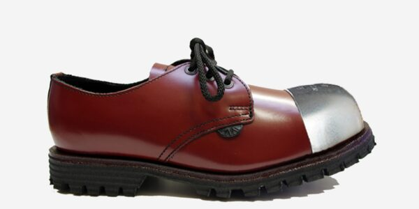 Underground England Tracker cherry leather external steel toe cap leather shoe for men and women