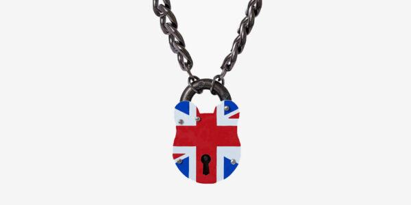 albion union jack padlock