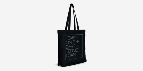 UNDERGROUND ENGLAND BLACK TOTE I EXIST FOR MEN AND WOMEN