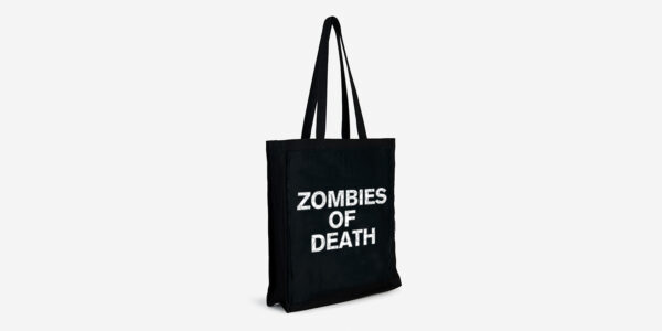 UNDERGROUND ENGLAND BLACK AND WHITE ZOMBIES OF DEATH TOTE BAG FOR MEN AND WOMEN