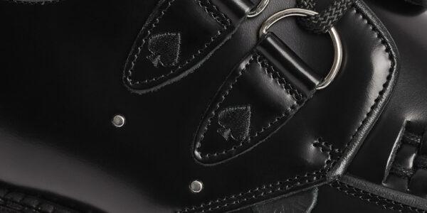 UNDERGROUND X MOTÖRHEAD Original Wulfrun ACE OF SPADES Creeper black leather shoe for men and women