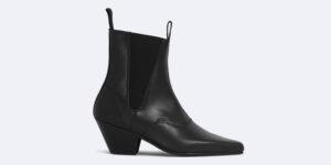 Underground England Fred Winklepicker black grain leather boot for men and women