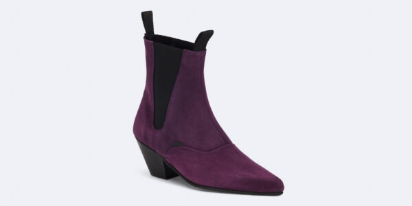 Underground England Fred Winklepicker purple suede leather boot for men and women