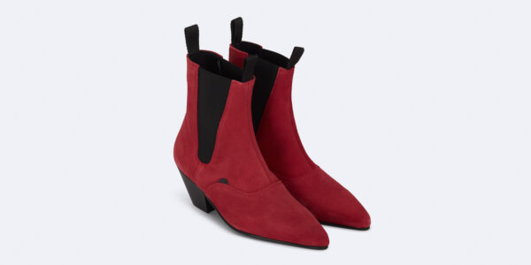 Underground England Fred Winklepicker Red suede leather boot for men and women