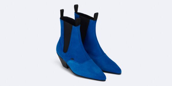 Underground England Fred Winklepicker royal blue suede leather boot for men and women